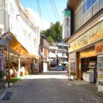 野沢温泉大湯通りの土産物店
